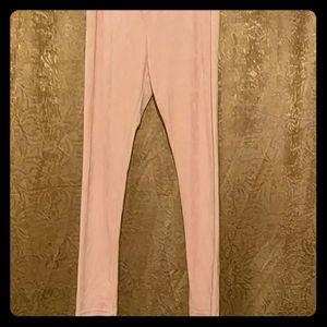 Pants - XL pink velvet leggings